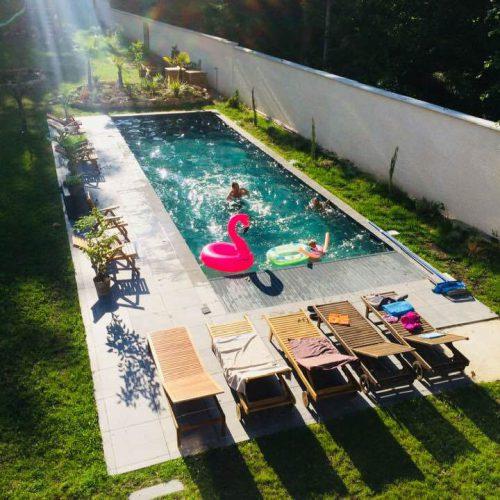 piscine jardin Effet Lodge